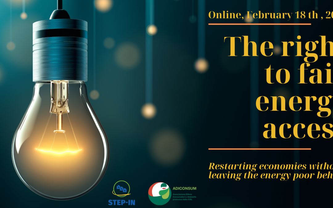 THE RIGHT TO FAIR ENERGY ACCESS – STEP-IN reports its achievements in the International Conference on February 18th