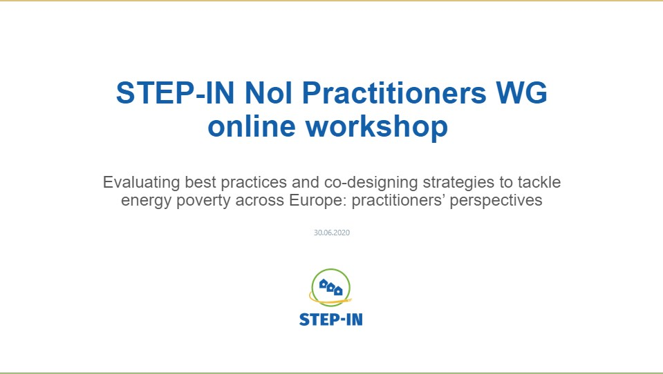 STEP-IN Network of Interest Workshop with Practitioners successfully concluded