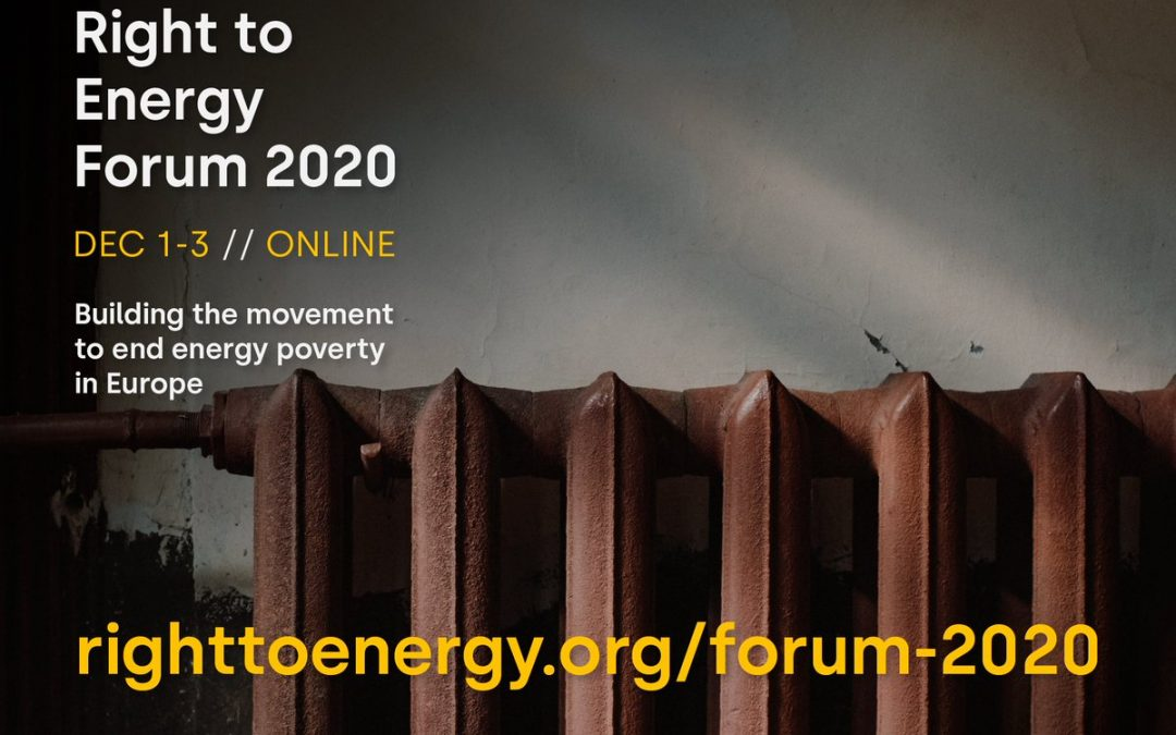 Right to Energy Forum 1st-3rd December 2020