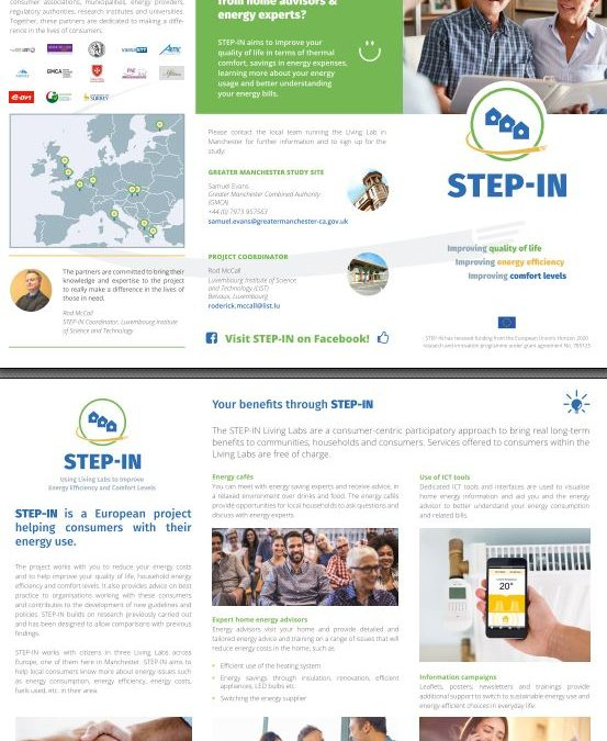 STEP-IN flyers for our Living Labs available for download in three languages