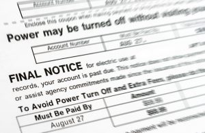Final notice bill, either you pay or power will be turn off